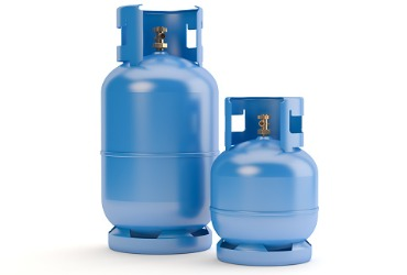 blue propane tanks