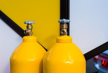 Tanks of propane fuel in Pontiac IL