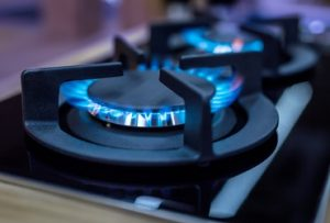 front burner on a gas powered stove