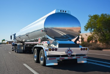 A truck on a highway during a Fuel Delivery for Pekin IL